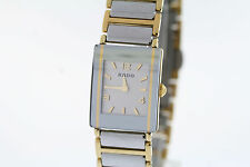 Ladies Rado Integral Jubile´ R20383232 Two-Tone Ceramic & Stainless Swiss Watch