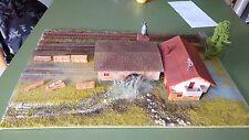 Diorama Display Scale Ho 1:87 Sawmill Italian with Three Tracks