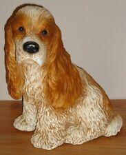 "COCKER SPANIEL Universal Statuary Statue Figurine Large 11.5"" puppy dog CA 1988"
