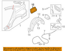 SUBARU OEM 05-16 Legacy Quarter Panel-Vent Grille Grill 72651AJ01A
