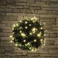 set 120 LED warm white fairy decorative lights Christmas XMAS OUTDOOR 230v mains