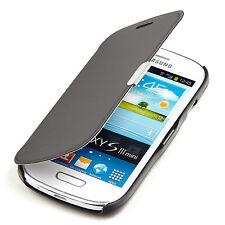 Samsung Galaxy S3 Mini I8190 Slim2 Flip Case Tasche Hülle Cover Etui schwarz A9