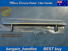 POLISHED Chrome Plated SOLID DOOR HANDLES Kitchen Cabinet Bathroom 10x 192mm