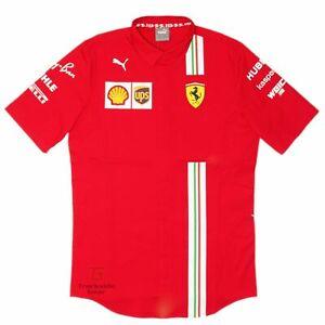 Ferrari 2021 Men's Team Short Sleeve Shirt by Puma