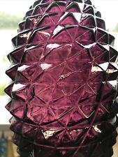 """More details for rare vtg amethyst italian hour glass empoli pineapple genie bottle diamond 16"""""""