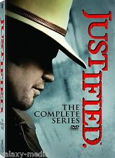 Justified Complete Series Box Set Season 1-6 (DVD 2015) 1 2 3 4 5 6 Western Fun