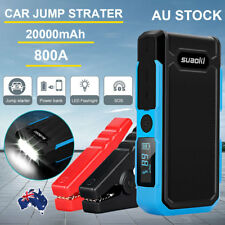 12V 20000mAh 800A Car Truck Jump Starter Booster Emergency Battery Charger Pack