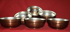 Vintage Hand Made Copper set 6 cups bowls