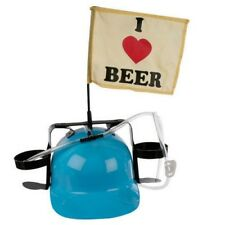 BLUE I LOVE BEER DRINKING HAT HELMET DRINKS HOLDER STAG DO HEN PARTY 93/1995