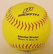 "1 Dozen Worth Px2Ryl 12"" Red Dot Nfhs Softball Fastpitch Yellow Leather Cover"