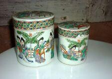 ancienne boite en porcelaine de chine famille ... gigogne
