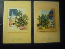 2 POSTCARD MERRY CHRISTMAS-years'50-intonse