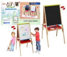 lavagna per bambini IN LEGNO cavalletto pittore lavagna per gessetti e pennarell