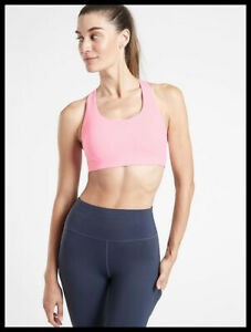 Athleta NWT Women's Ultimate Bra A-C Size Med Color Petit Four Pink