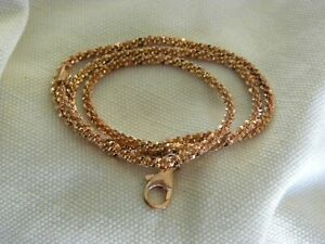 MILOR ITALIAN BRONZE ROSE GOLD CHAIN NECKLACE 1