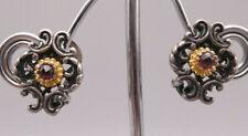 Prachtvolle wunderbare Ohrringe Silber teilweise vergoldet TRACHT mit Granate
