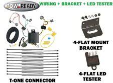 trailer hitch wiring kit fits 06-18 toyota tacoma w/ mount bracket & led