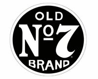 JACK DANIELS OLD NUMBER 7 ROUND WHISKEY SIGN BOTTLE AND BAR WALL ART DECOR