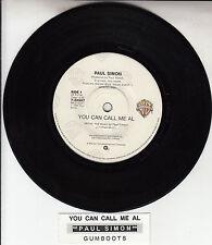 "PAUL SIMON  You Can Call Me Al 7"" 45 rpm vinyl record + juke box title strip"