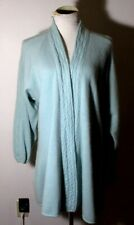 Women's S.S.G. by Catherine Lover Aqua Angora Rabbit Hair Blend Sweater S