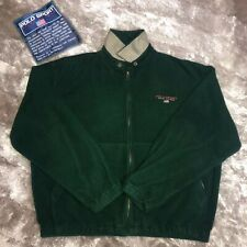 Vintage 90's POLO SPORT Ralph Lauren USA Polartec Green Fleece Harrington Jacket