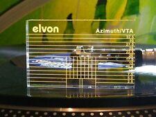 ♫ -schablone Einstellung Azimut/VTA + 2 Ebenen eine Blase Plattenspieler vintage
