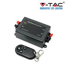 DIMMER TENSIOMETRO VTAC V-TAC PER STRIP LED 12V E 24V CON TELECOMANDO SKU 3300