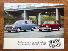 TRIUMPH 2000 MK1 SALOON & ESTATE UK Market Sales Brochure, 1965