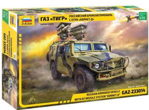 "Zvezda 3682 Russian Armored Vehicle GAZ-233014 w missile system ""Kornet-D"" 1/35"