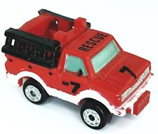 Micro Machines Vehicle Rescue Truck Fire Department Datsun First Responder Red