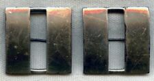 Pair of WWII US Navy Lieutenant or USMC Captain Bars in Sterling by Luxenberg