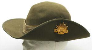 1960s Original Vietnam Era Australian Military Forces Felt Hat Size 6 3/4  55mm
