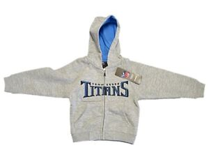 New NFL Tennessee Titans Hoody Toddler Sweatshirt 2T 3T 4T Zipper Hoodie Boys