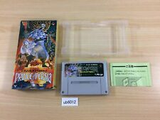 ub6012 Prince Of Persia BOXED SNES Super Famicom Japan