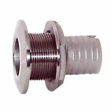 1 in. Groco Stainless Steel Thru-Hull with Nut