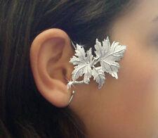 JoliKo Ohrklemme Ohrringe Earcuff Silber Blätter Ahorn Ranke Ornament Fee RECHTS