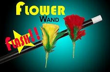 Metal Flash Flower Wand Appearing Feather Clown Magic Trick Repeat Color Change