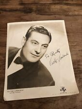 Vintage Victor Lombardo Signed 8x10 Photo Photograph Autograph Orchestra MCA