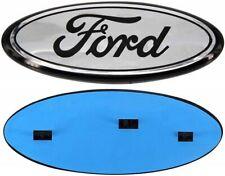 """2004-2016 Ford Chrome Oval Black Logo 9"""" x 3.5"""" Emblem Grille/Tailgate BLEMISHED"""