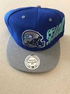 Seattle Seahawks NFL Football Embroidered Hat Snapback Adjustable Cap Vintage
