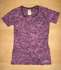 Billabong Purple & Gray Notch Front Burnout Pocket T-Shirt Size S