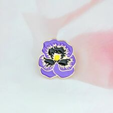 Purple Pansy Remembrance Pin You Are Always In My Thoughts