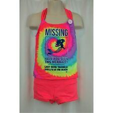 Justice Tankini Size 10 Plus Missing Mermaid Tie Dye Modest Two Piece Swimsuit