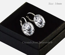 925 Sterling Silver Earrings14mm Rivoli Crystal (Clear) Crystals from Swarovski®