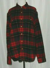 J. Crew Flannel Men's Shirt Size L & Long Sleeved Navy Red Green White Blue SOFT