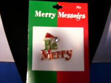 Christmas Pin Be Merry Enamel with Stone By Roman Inc 3