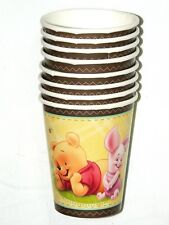 WINNIE THE POOH  BABY & FRIENDS -  8- PAPER CUPS 9 FL. OZ. -  , PARTY SUPPLIES
