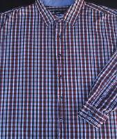 Synrgy Mens Button Front Long Sleeve Cotton Plaid Shirt 4X 4XL XXXXL
