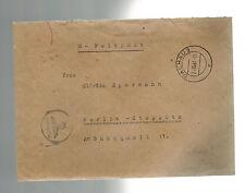 1941 Germany Dachau Concentration Camp KZ Doctor Cover w/letr Waffen SS Feldpost