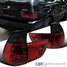00-05 BMW E53 X5 Red/Smoke Parking Tail Trunk Lights Reverse Brake Lamps Pair